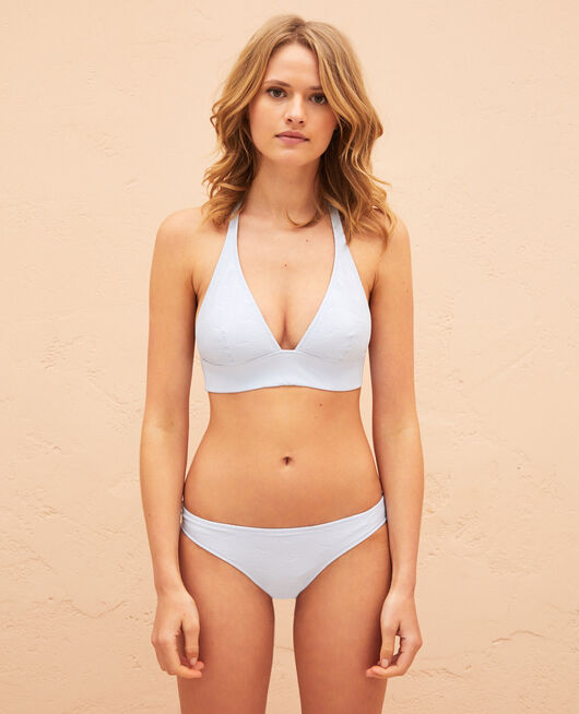 Triangel-Bikini-Oberteil Himmelblau NIALA