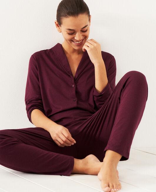 Pyjama-Jacke Pflaume PARESSE