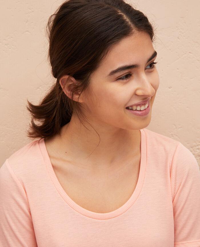 Kurzarm-T-Shirt Rosa Gazelle LATTE