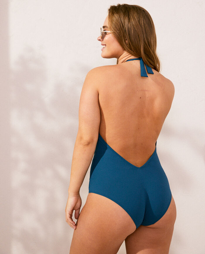 Badeanzug Neckholder Sombrero Blau IMPALA