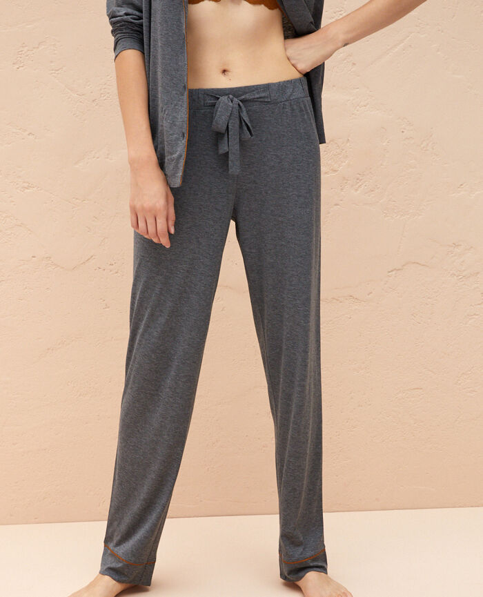 Pyjama Hose Wolkengrau LATTE