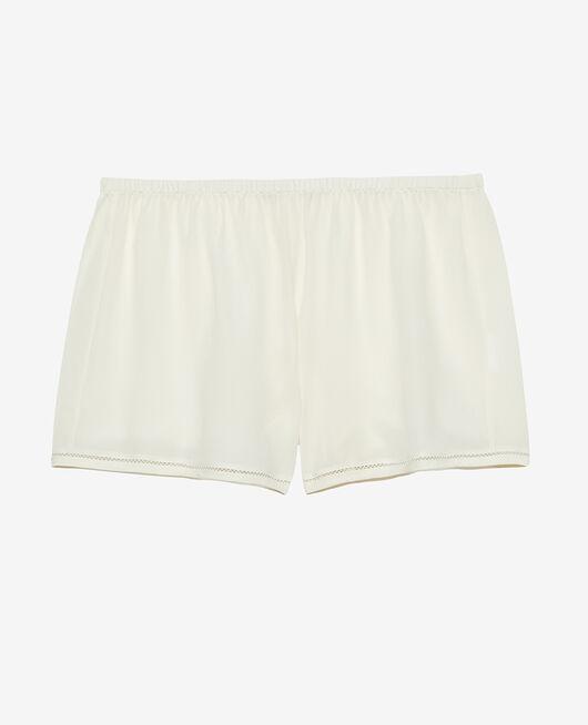 Pyjama-Shorts Cremeweiß CARESSE