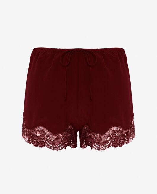 Pyjama-Shorts Cassis rot DIVINE