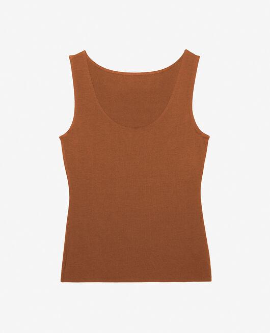 Ärmelloses T-Shirt Muskatnuss Braun HEATTECH® INNERWEAR