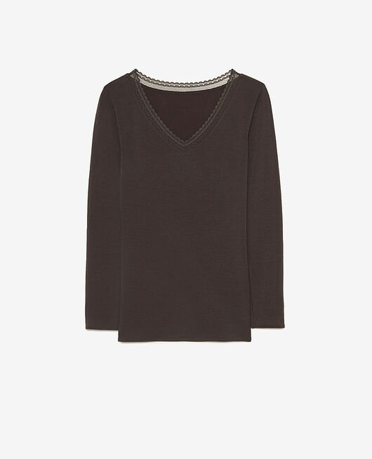 Langärmliges T-Shirt Rauchgrau HEATTECH® EXTRA WARM