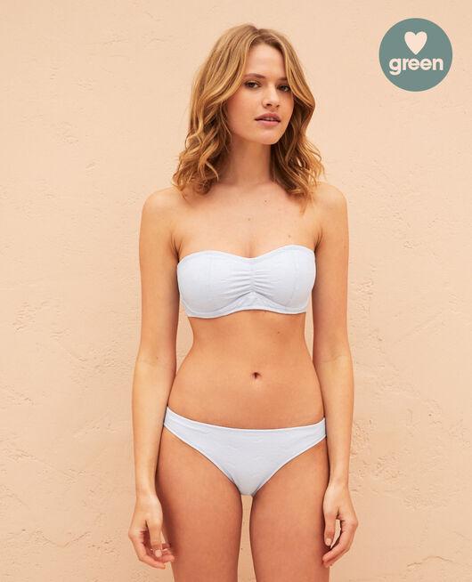 Bandeau-Bikini mit Bügel Himmelblau NIALA