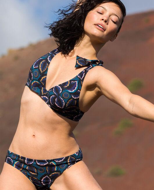 Triangel-Bikini-Oberteil mit Bügeln Wachsblau WAX