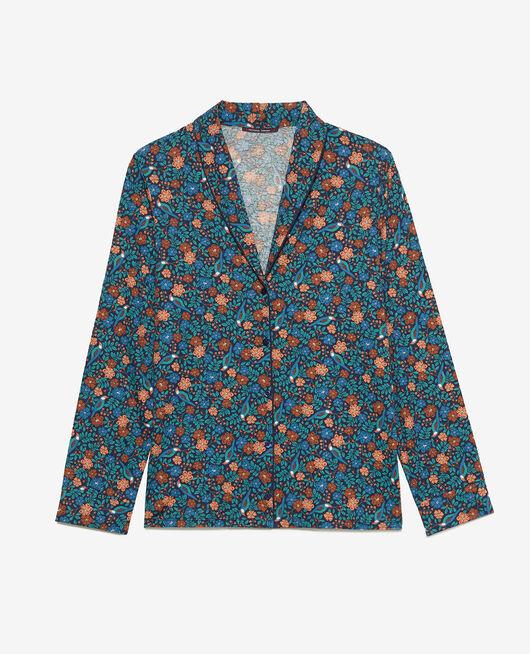 Pyjama-Jacke Nachtigall Marineblau PARESSE PRINT