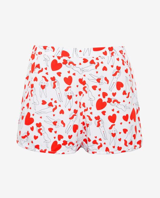 Pyjama-Shorts Agathe Elfenbeinfarben A LA FOLIE