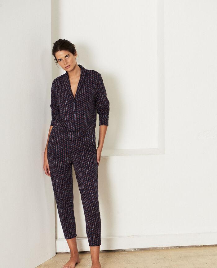 Pyjama-Jacke Royal Lebkuchen PARESSE PRINT