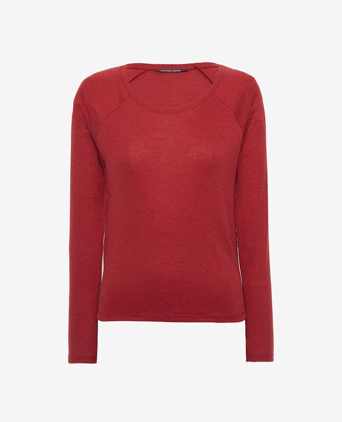 Langarm-T-Shirt Henne Braun LATTE