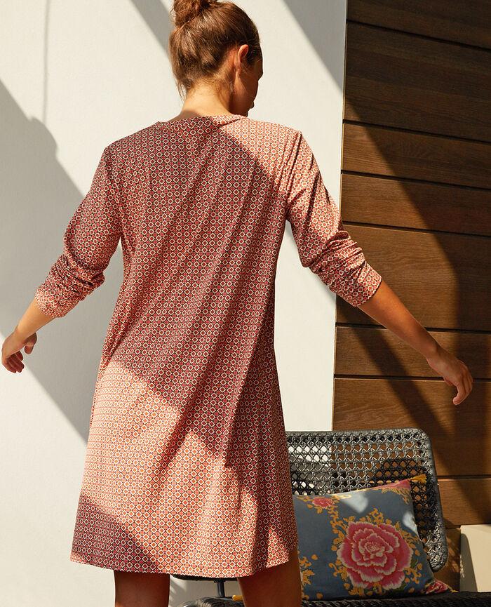 Langärmliges Nachthemd Mosaik DIMANCHE