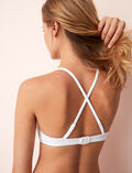 Triangel-Bikini-Oberteil mit versteckten Bügeln Weiß SOKO