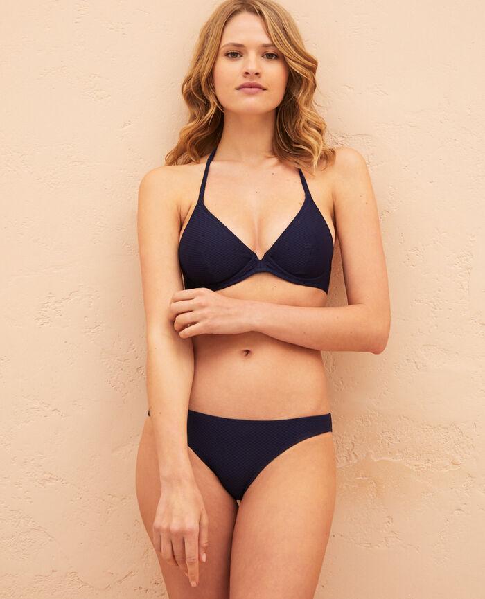 Triangel-Bikini-Oberteil mit Bügeln Marineblau FARAH