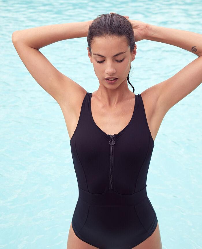 Sport-Badeanzug Schwarz AQUA