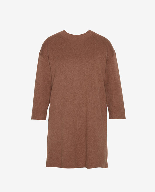 Long-sleeved tunic Muskatnuss Braun NATUREL