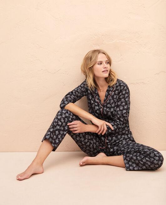 Pyjama-Set Graue Blätter PRINCESSE TAM.TAM x UNIQLO