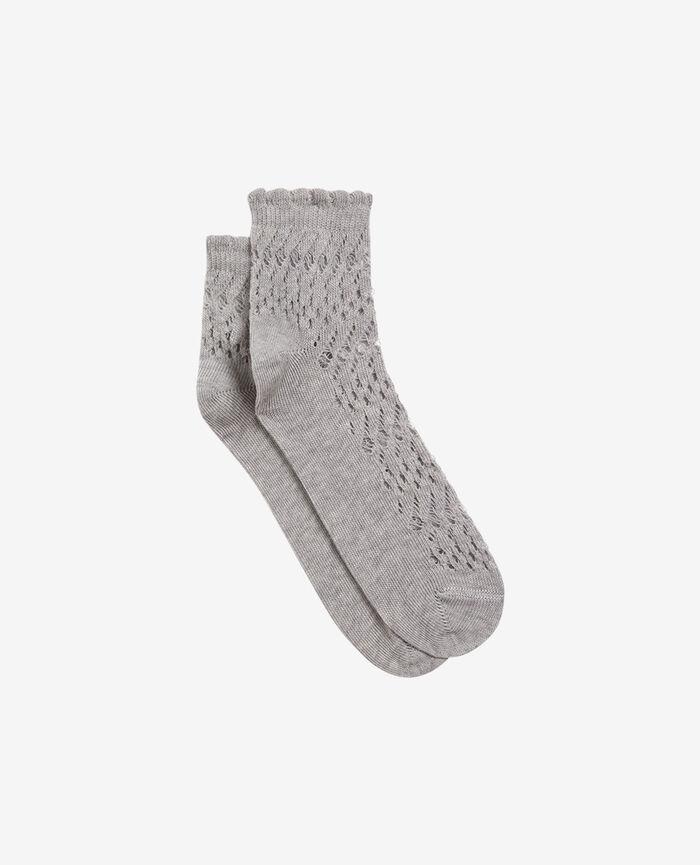 Socken Grau meliert KAWAI