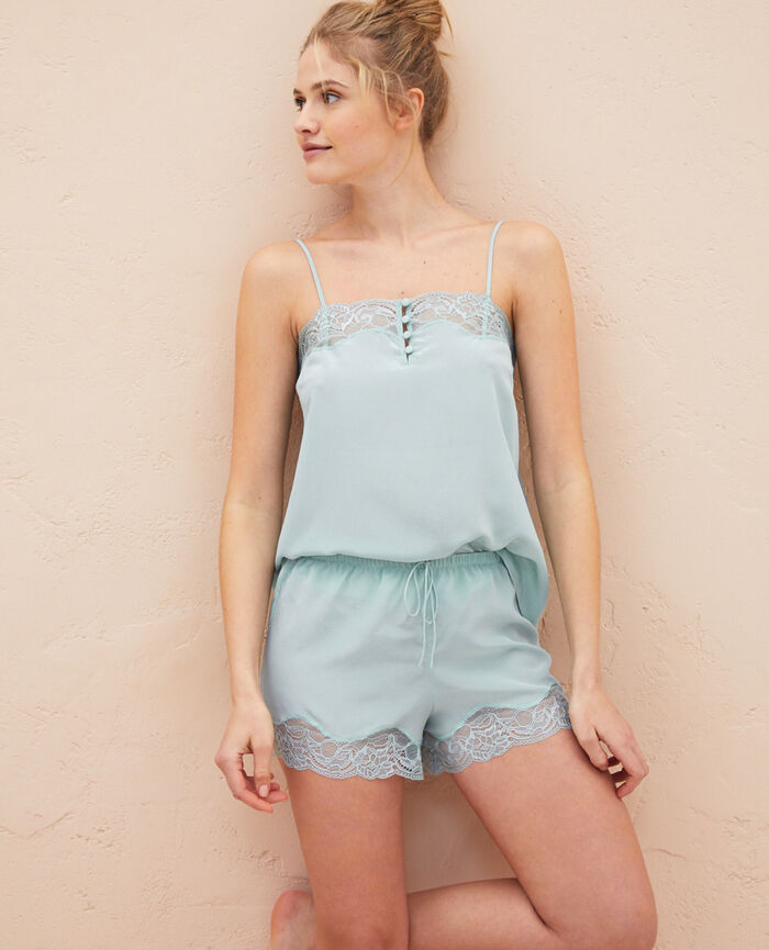 Pyjama-Shorts Mosaik Grün DIVINE