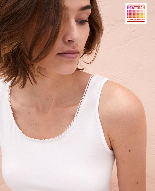 Ärmelloses T-Shirt Weiß rosé INNERWEAR
