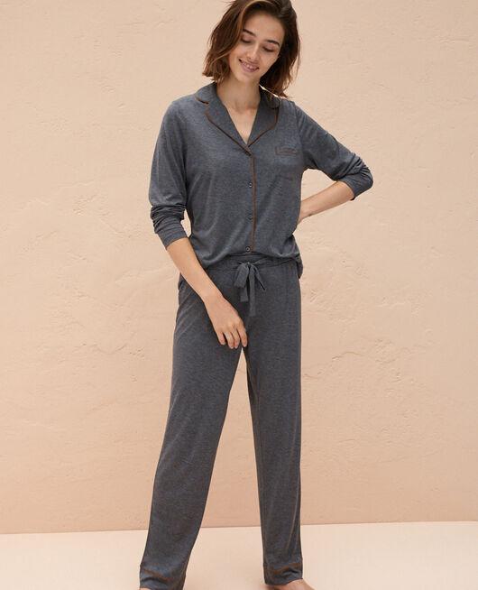 Pyjama-Jacke Wolkengrau LATTE