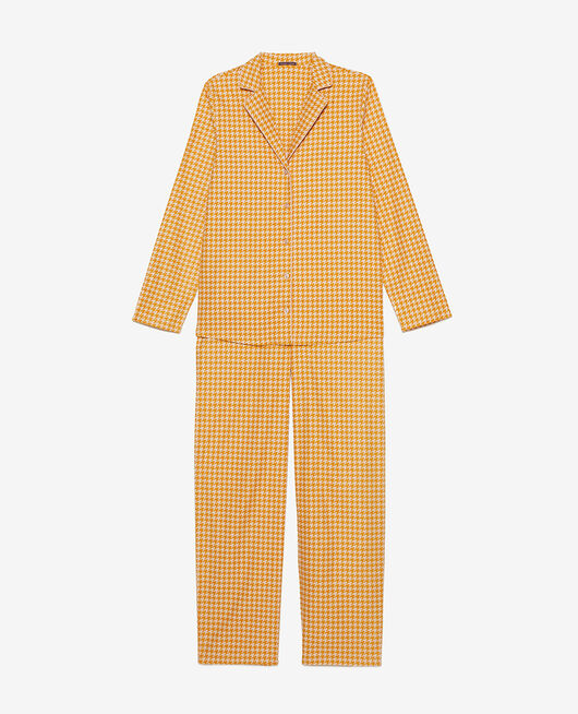Pyjama-Set Hahnentritt Senfgelb DODO