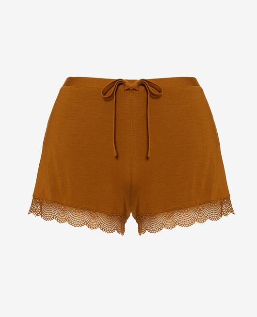Pyjama-Shorts Cocktail braun REVERIE