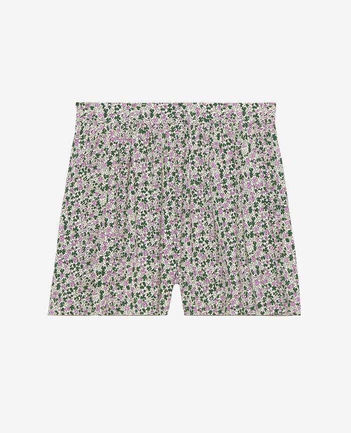 Pyjama-Shorts Idylle Gartengrün FANCY VISCOSE