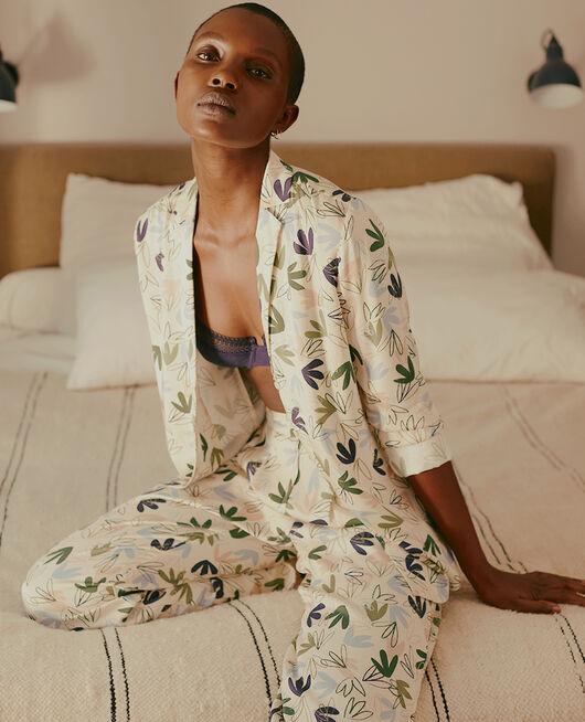 Pyjama-Jacke Matisse Weiß Rosé ATTITUDE IMPRIME