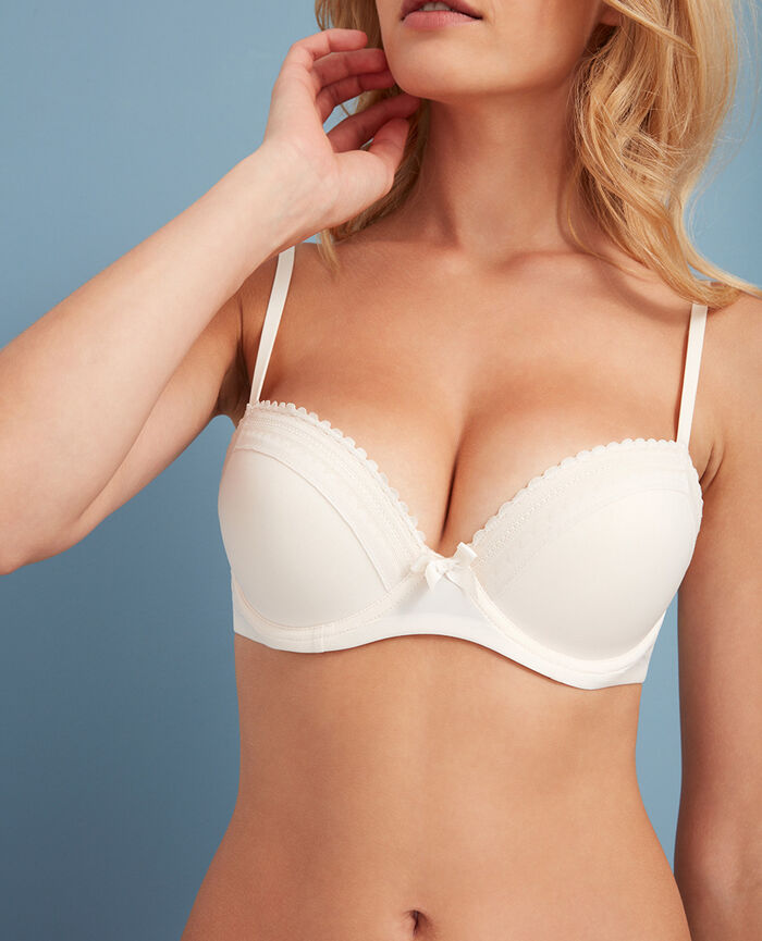 Push-up-BH mit progressiven Schalen Weiß rosé BEAUTE