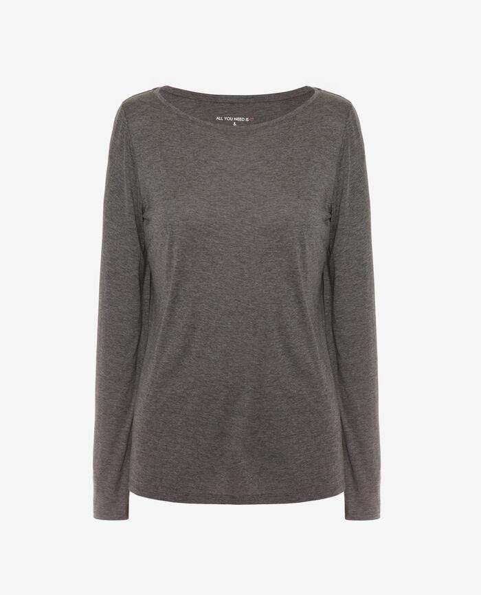 Langärmliges T-Shirt Wolkengrau LATTE