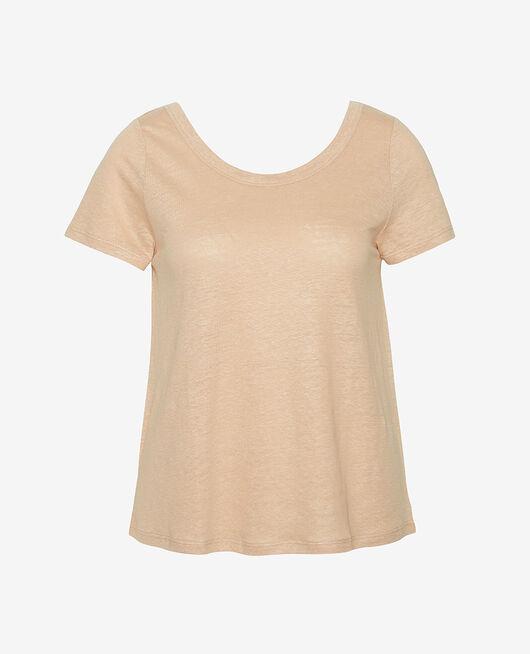 Kurzärmliges T-Shirt Puder CASUAL LIN
