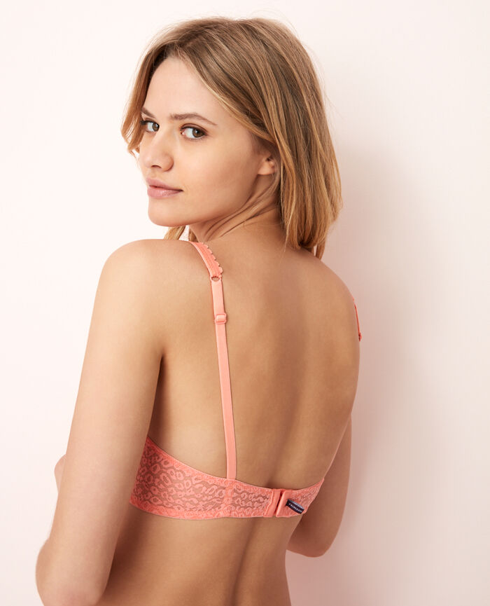 Triangel-BH mit Bügeln Grapefruit Rosa BELLE