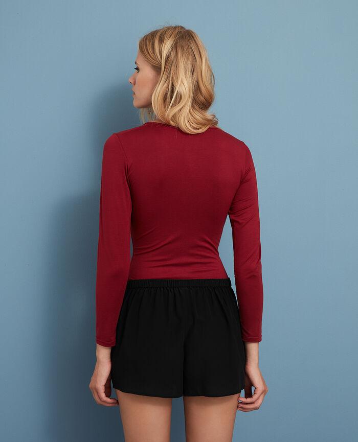 Langärmliges T-Shirt Leder Rot INNERWEAR