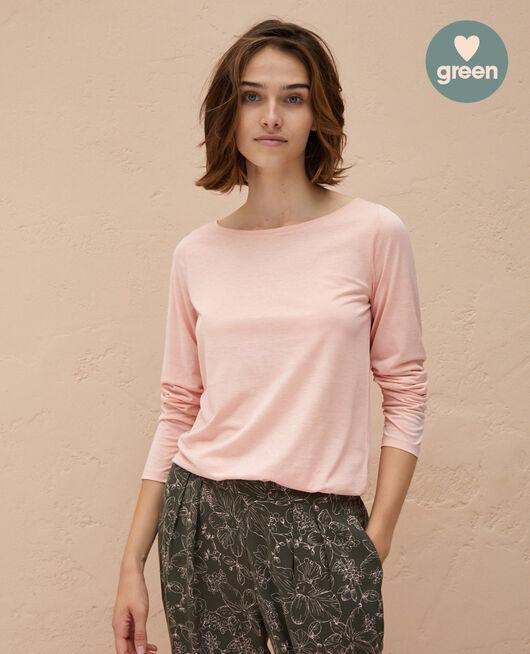 Langärmliges T-Shirt Wolkenrosa LATTE ORGANIC