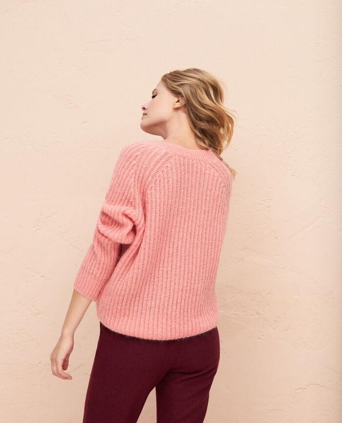 Pullover mit V-Ausschnitt Rosa erröten SENSATION
