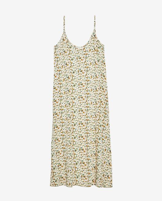 Langes Nachthemd Tulpe Gartengrün ATTITUDE IMPRIME