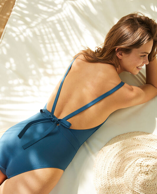 Badeanzug Sombrero Blau IMPALA