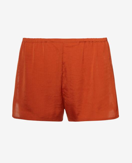 Pyjama-Shorts Cognac braun MINUIT