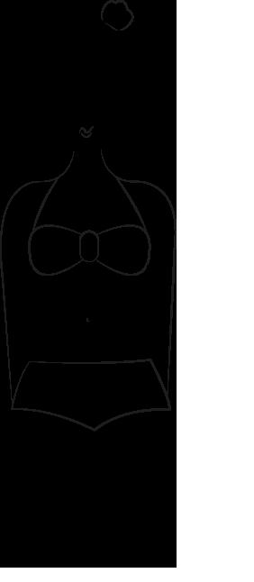 Maillot de bain morphologie H, silhouette rectangle