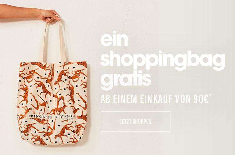 Ein shoppingbag gratis ab einem einkauf von 90€*