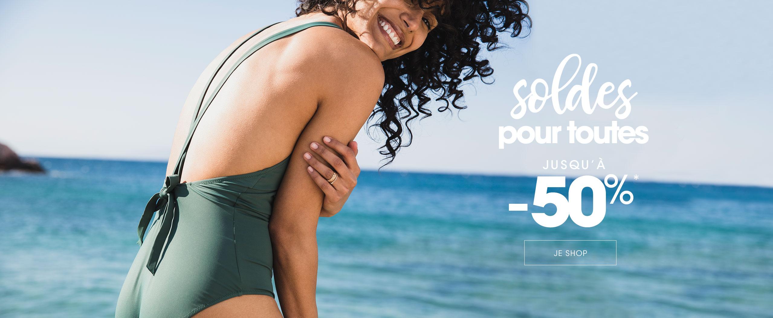 Soldes Lingerie femme & Maillot de bain jusqu'à -50%