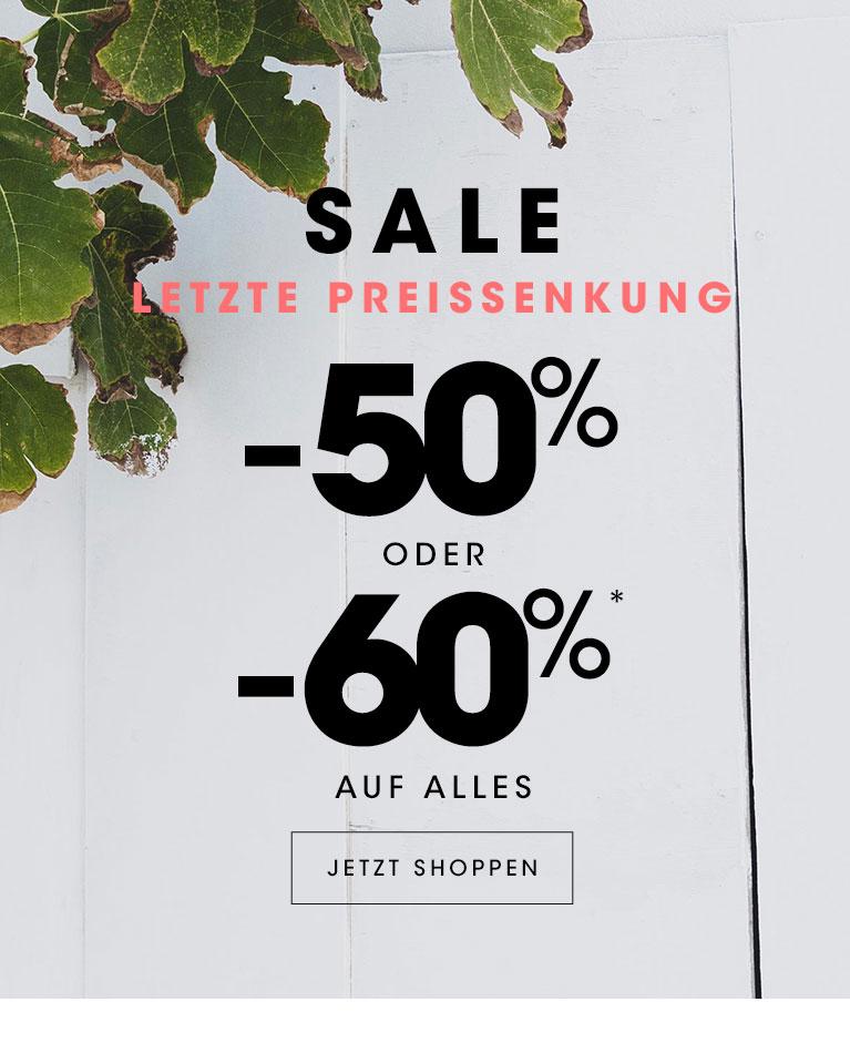 Sale : -50% oder -60% auf alles