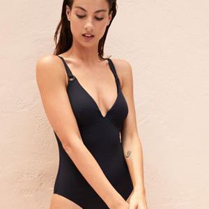 Schwarz Badeanzug großen Größen