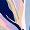Triangel-Bikini-Oberteil ohne Bügel Pflanzen Fayenceblau FARAH COLOR - THE FEEL GOOD