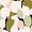 Bademantel Tulpe Gartengrün ATTITUDE IMPRIME